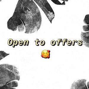 Other - ✖️ Always open to offers ✖️